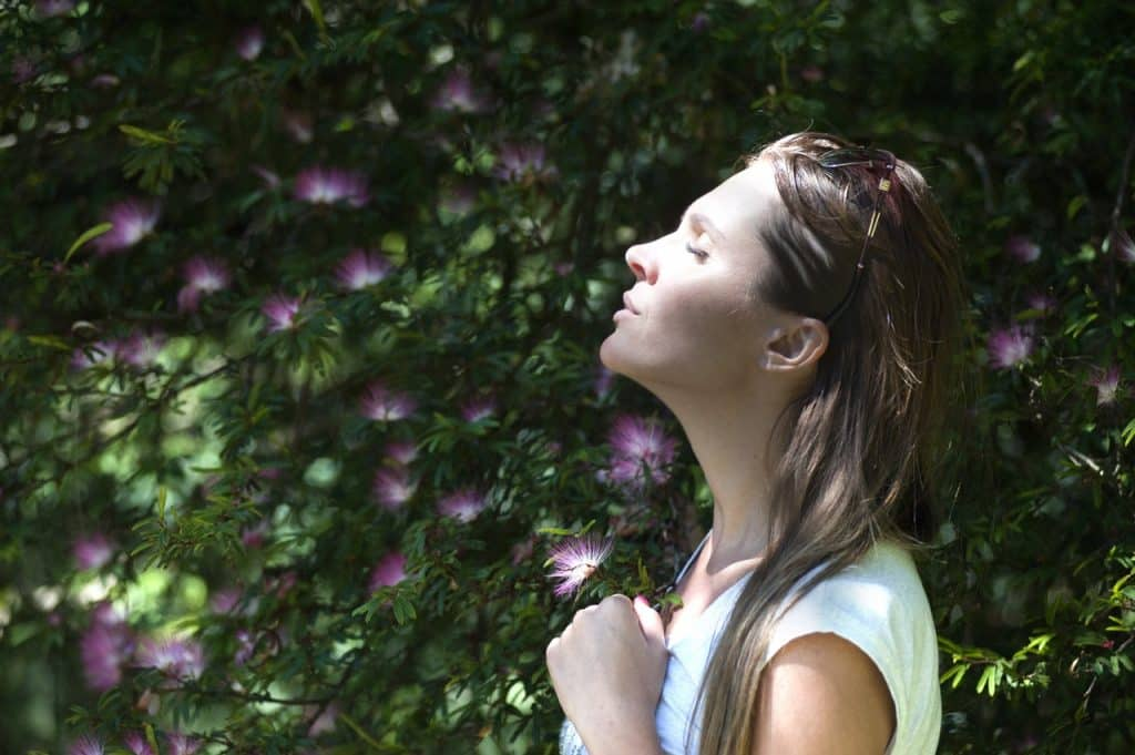Breathing exercise for calming and anxiety
